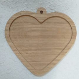 1pc Wooden unfinished heart  7.5″ picture frame, heart unique photo frame