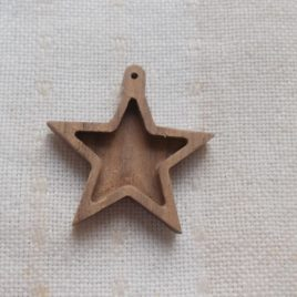 1pc unfinished wooden star for  Christmas tree decoration
