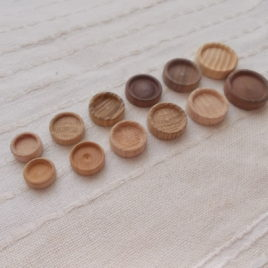 10 pc unfinished wooden brooch/pendant bases (12-14-16-18-20)