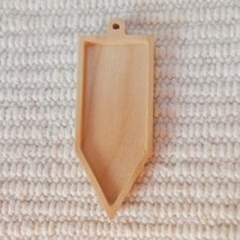 1 p unfinished wooden long arrow-shaped pendant base with loop