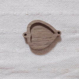 1 p unfinished heart-shaped pendant connector tray