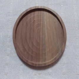 1 pc Unfinished mini oval dark walnut wood picture/photo frame