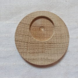 1 p 50 mm unfinished wooden brooch/pendant base with 30 mm cabochon frame
