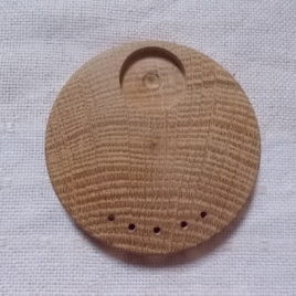 1 p 50 mm unfinished wooden brooch/pendant base with 20 mm cabochon frame