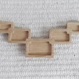 1 p unfinished wooden rectangle in rectangle pendant tray
