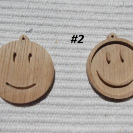 """1 p unfinished blank wooden """"SMILES"""" pendant trays in 2 styles"""