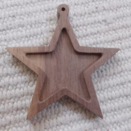 1 pc 2.7″ Unfinished Wooden Blank Stars Christmas tree Decoration