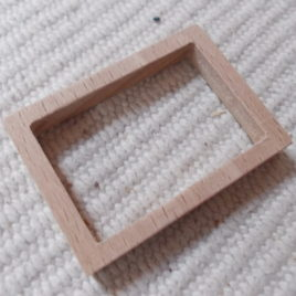 1pc Unfinished see-through picture/photo frame for crafting