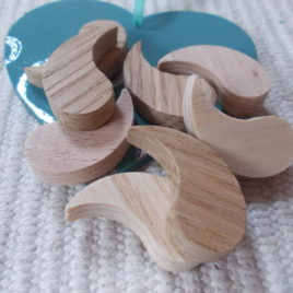 8 pc unfinished wooden DROP-shaped pendant/bracelet bases for jewelry making