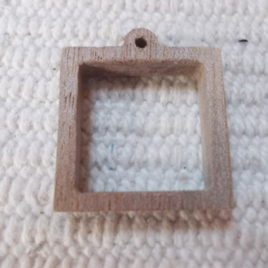 1pc Unfinished minimalist square jewellery tray,  square resin tray