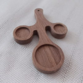 1 pc wooden BUDS OF SPRING pendant base with 10-12-18 mm cabochon frames