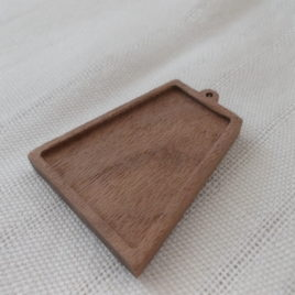 1 pc Unfinished wooden INKA medal/earrings tray,peruvian earrings base