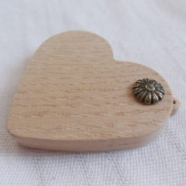 1p 2.3″ unfinished heart wooden locket pendant base with loop