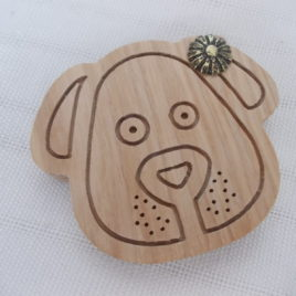 1p unfinished DOG locket pendant base with 30mm cutout inside