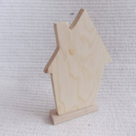 1pc Unfinished blank wooden house for craft ,wooden house or decoration